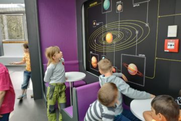 Děti v Planetáriu Ostrava